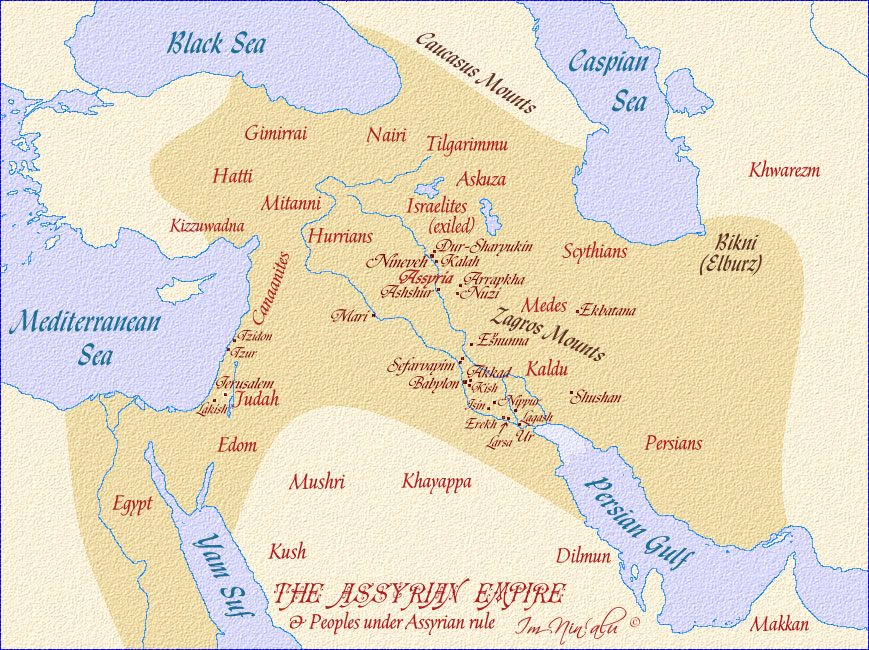 The history of the assyrian empire and the assyrians